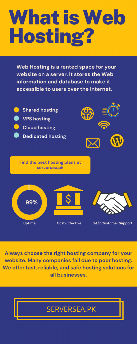 what is web hosting - infographics